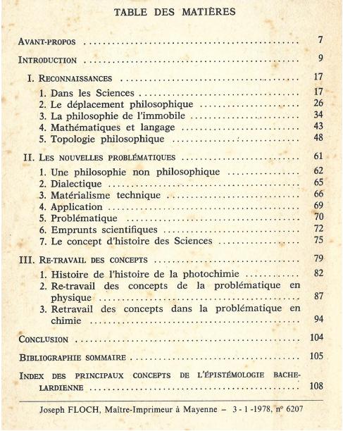 Sumário - L'Épistémologie historique de Gaston Bachelard. Paris; J. Vrin, 1978.