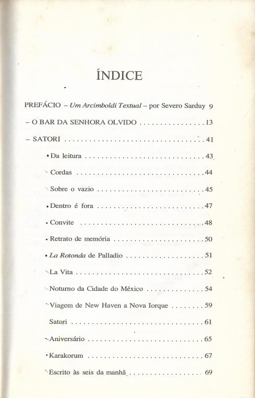 [Livro] SATORI SUMARIO 1